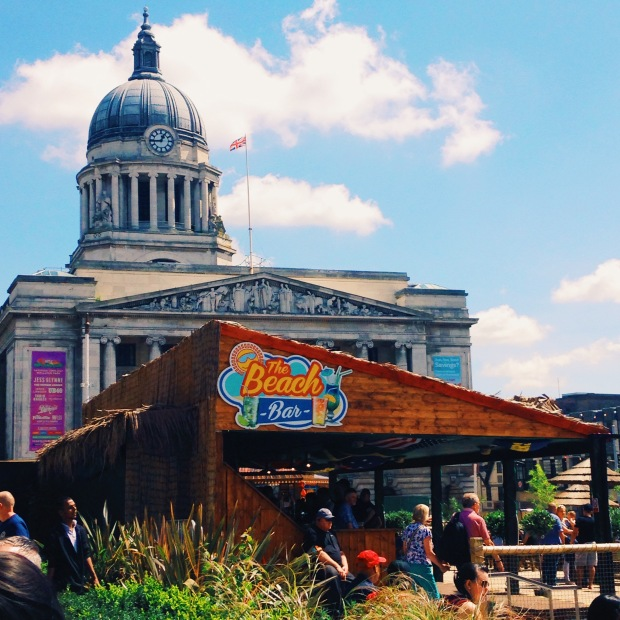 nottingham-graduate-student-market-square-beach-bar-summer